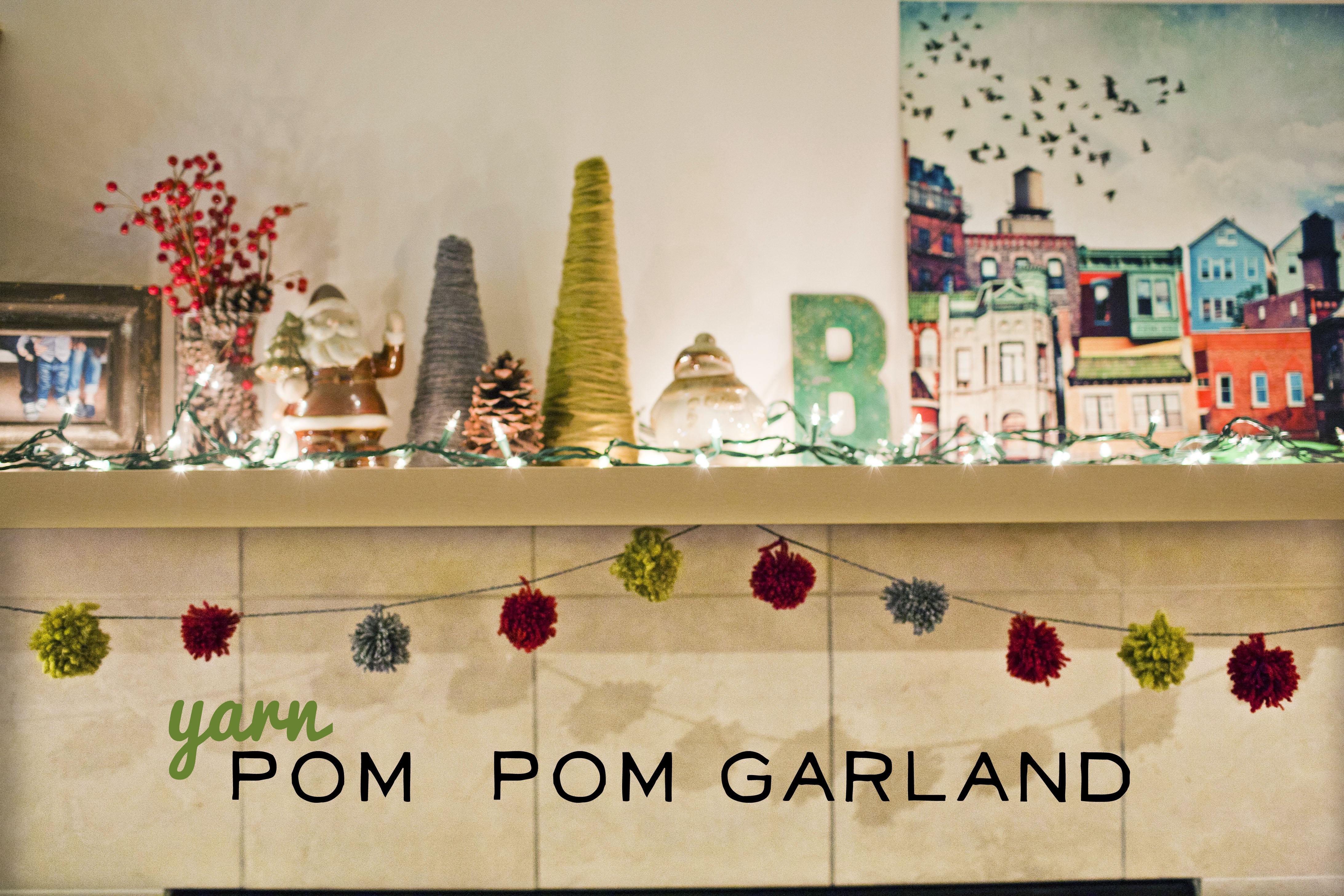 332 Yarn Pom Pom Garland Christmas Mantel Make Great
