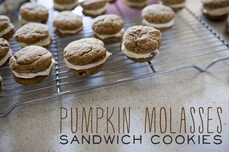 pumpkin molasses sandwich cookies. | make great