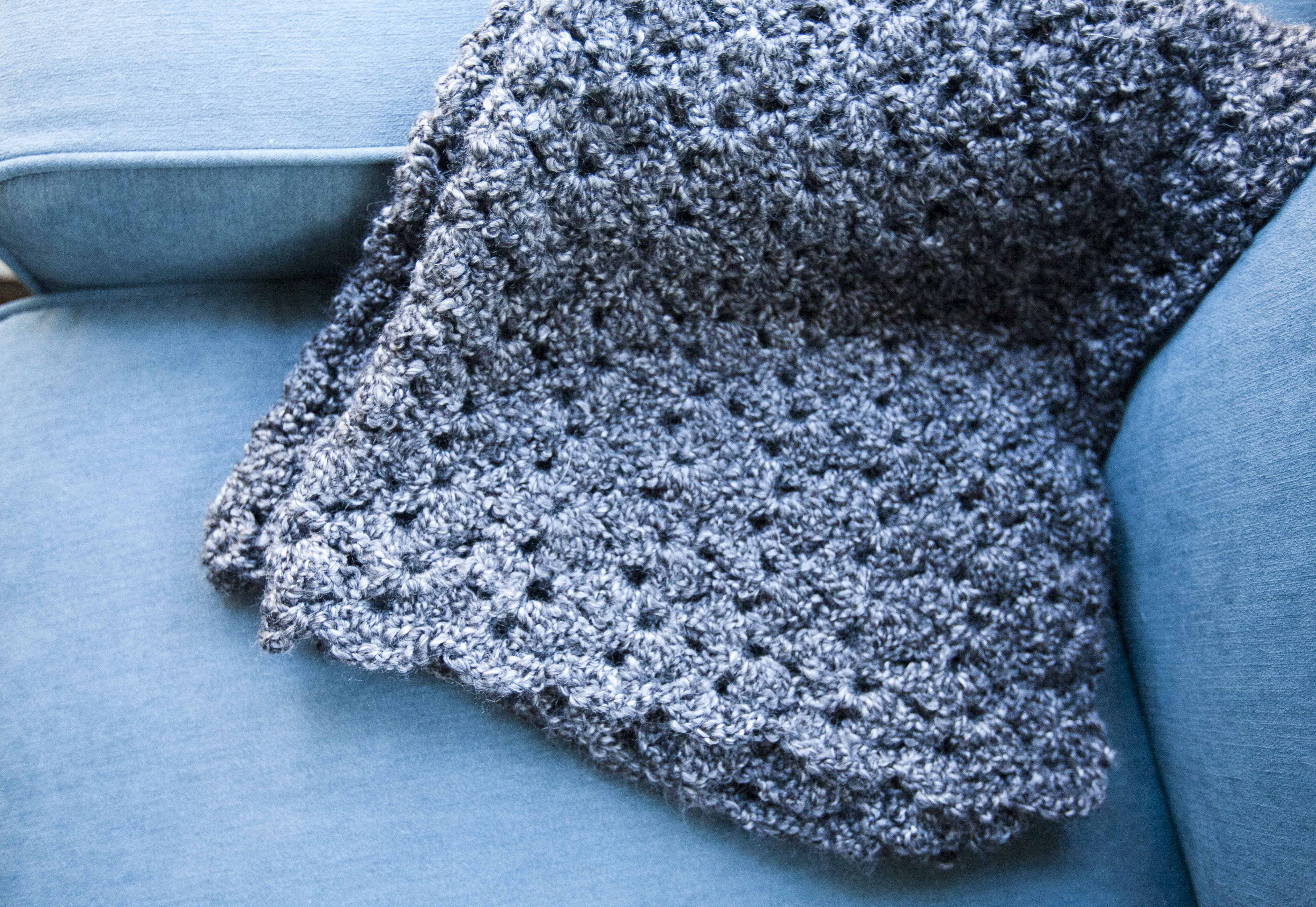 Knit Shell Stitch Baby Blanket : asymmetrical shell stitch baby blanket. make great