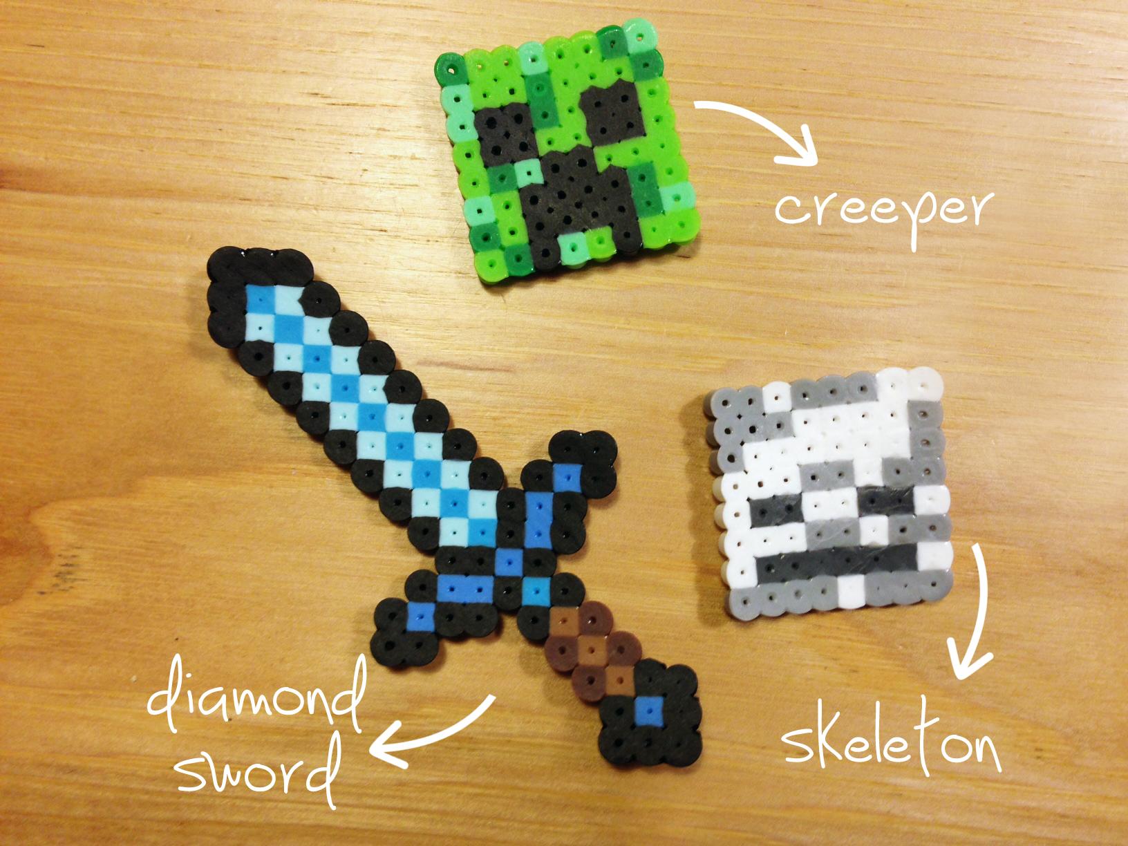 Minecraft Perler Beads Make Great